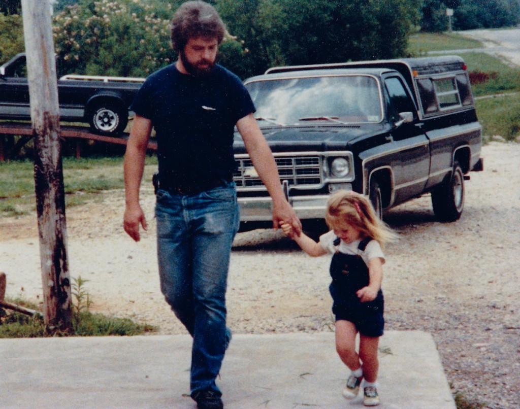 Tim McWilliams and daughter Christa, Jun 1984