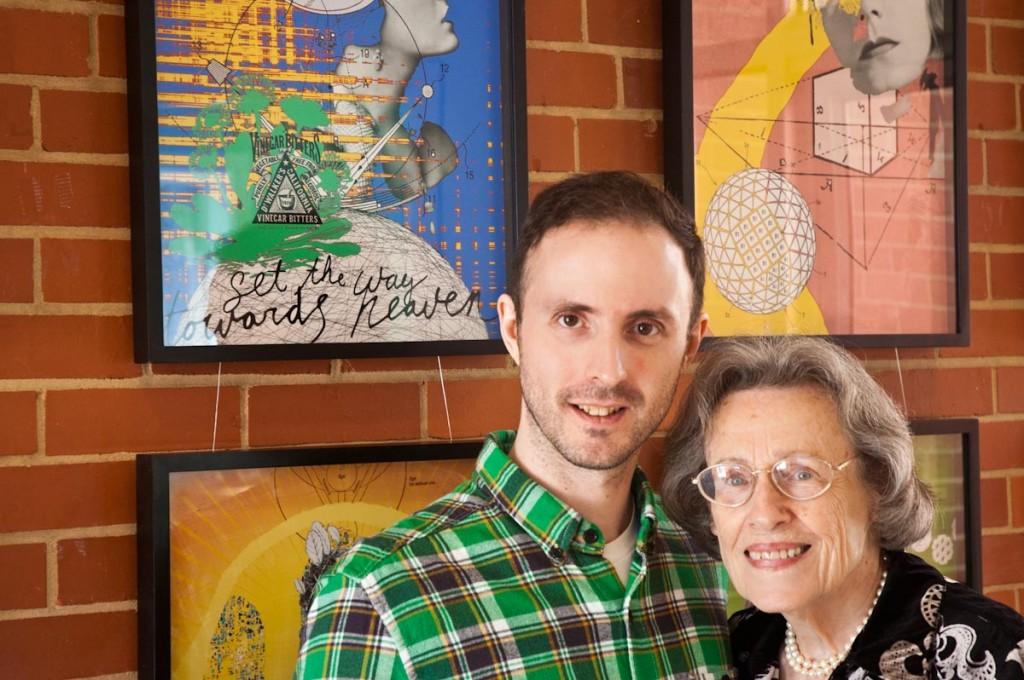 luke kurtis with Geraldine Bryan at the muse opening