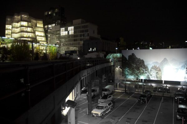 night time view from the high line