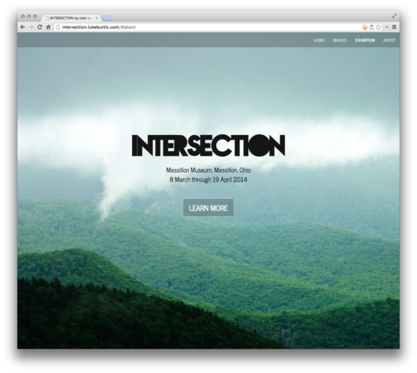 INTERSECTION luke kurtis exhibition website