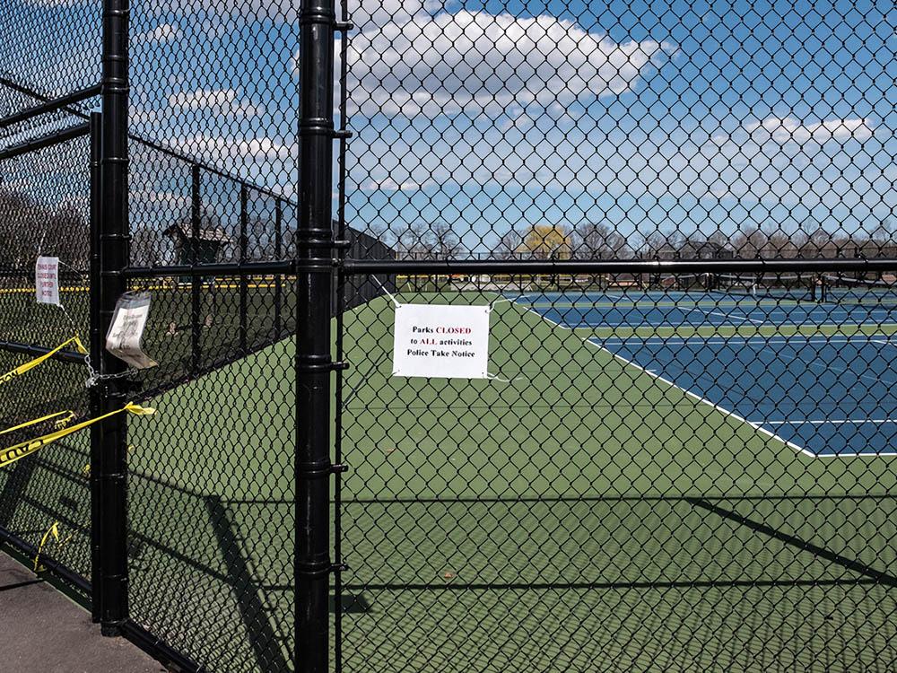 Parks Closed, Belmont, MA April 2020