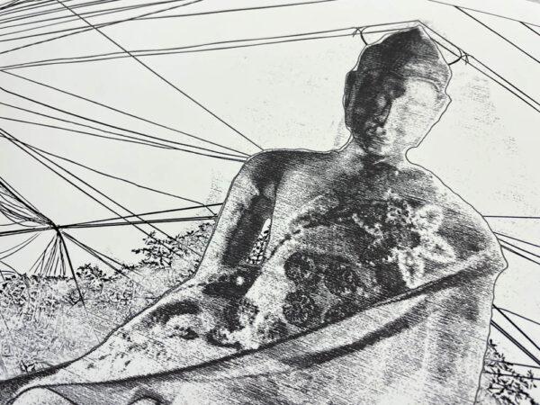 electric wire buddha print
