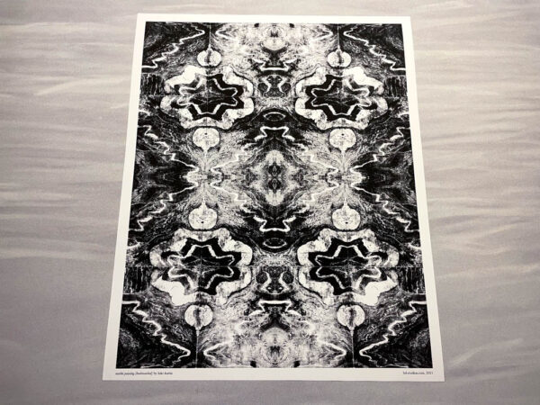 marble painting (bookmatched) print