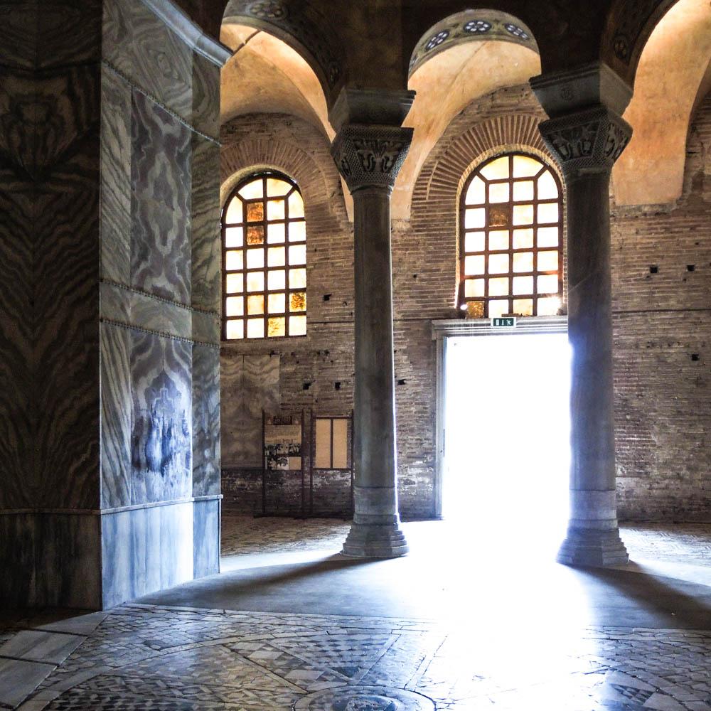 Photograph of interior of San Vitaly, from Springtime in Byzantium by luke kurtis